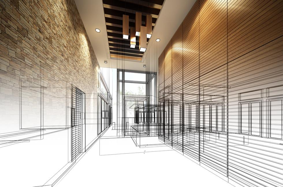 Architecture 3D restaurant bureaux