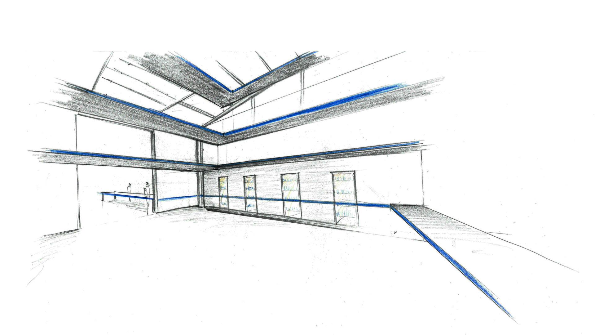 croquis d'ambiance  shop factory Blue Coast par B5 RETAIL 2