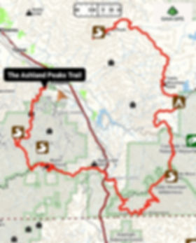 The Ashland Peaks Trail Overview Map - b