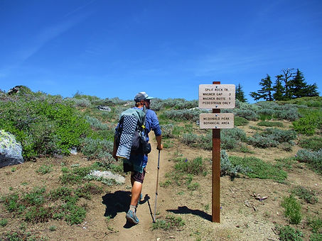 On the Siskiyou Peaks Trail - Split Rock