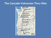 The Cascade Volcanoes Thru-Hike Map by A