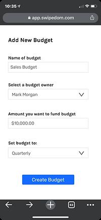 add a budget