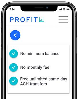 Profit business bank mobile app
