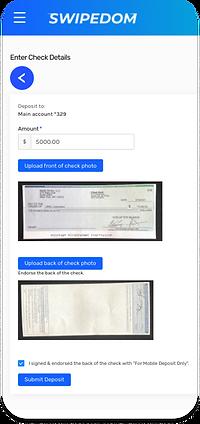 SWIPEDOM check deposit