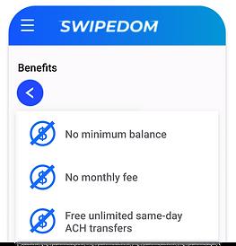 SWIPEDOM no fee banking