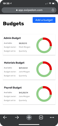 budgeting platform