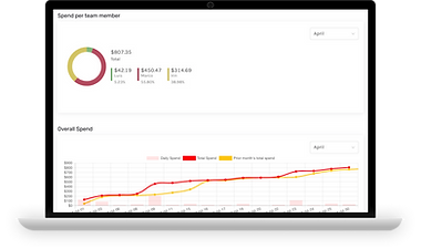 open business checking account online spend management graphs
