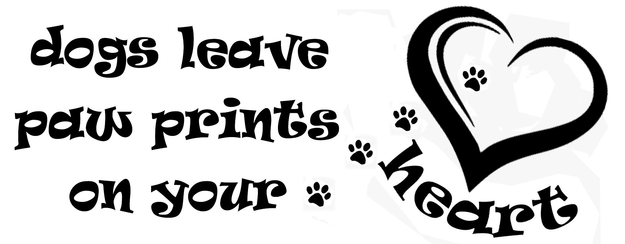 PET8: Dog leaves paw print