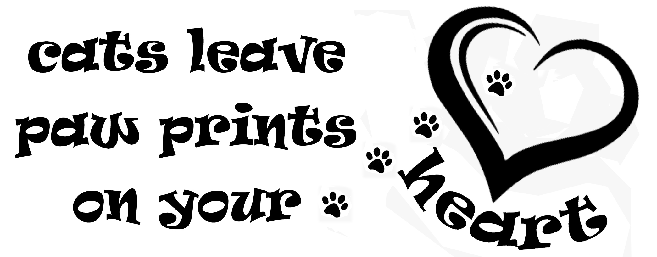 PET7: Cat leaves paw print