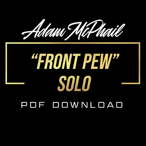 """Front Pew"" Solo Transcription - Marcus Finnie Band"