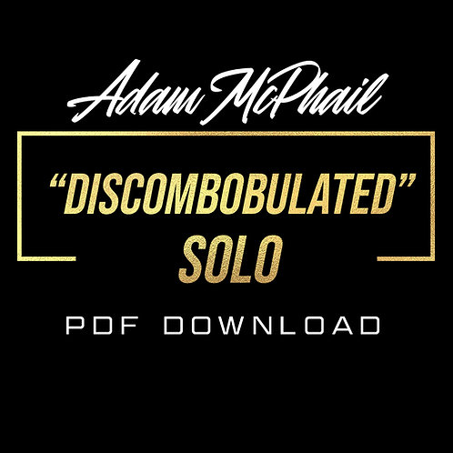 """Discombobulated"" Solo Transcription -  Marcus Finnie Band"