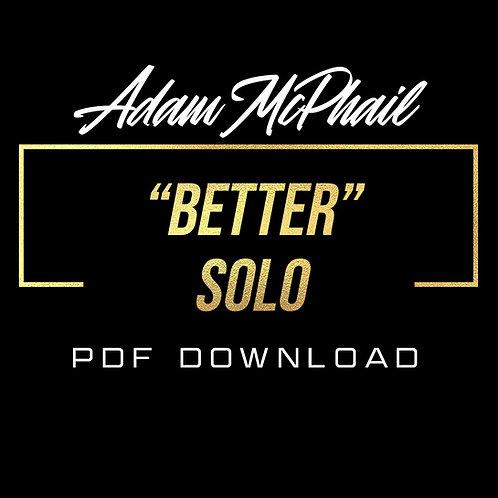 """Better"" Solo Transcription - Cody Fry, Cory Wong, Dynamo"