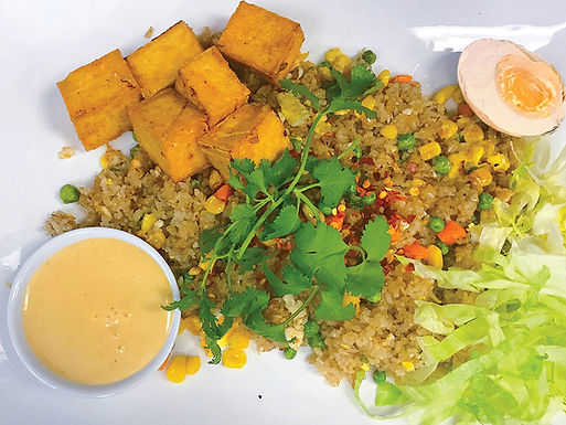 V14- Vegetarian Fried Rice / Com Chien Trung Muoi