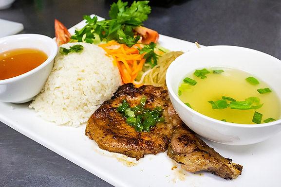 C3- Pork Chop -  Com Suon Nuong