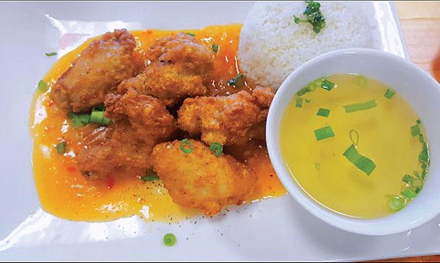 C2- Garlic Chicken - Com Ga Chien Toi