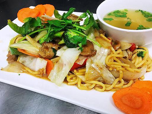 M1- Basil Garlic Chicken Lo Mein - Mi Xao Que Ga