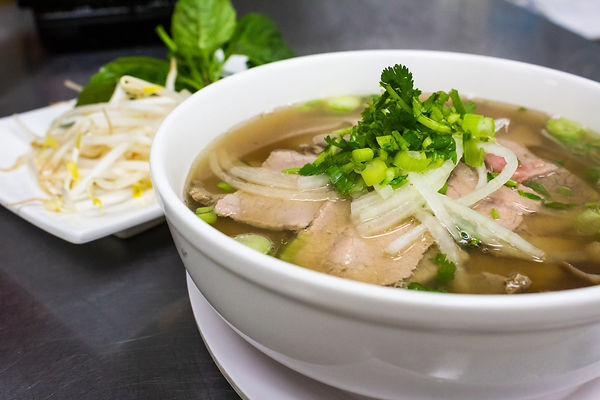 Beef pho noodle bowl