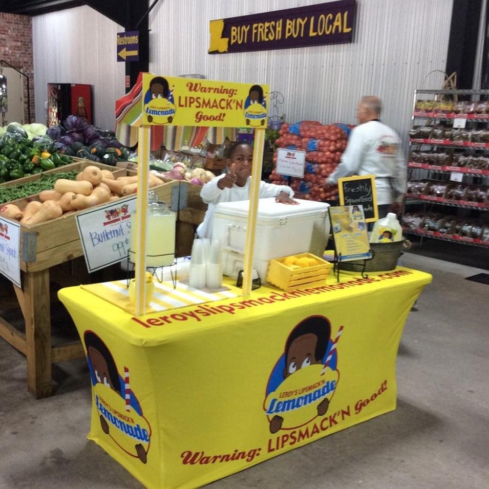 You can now get Leroy's LipSmack'n Lemonade at Southside Produce Market 8240 Perkins Road, Baton Rouge, LA