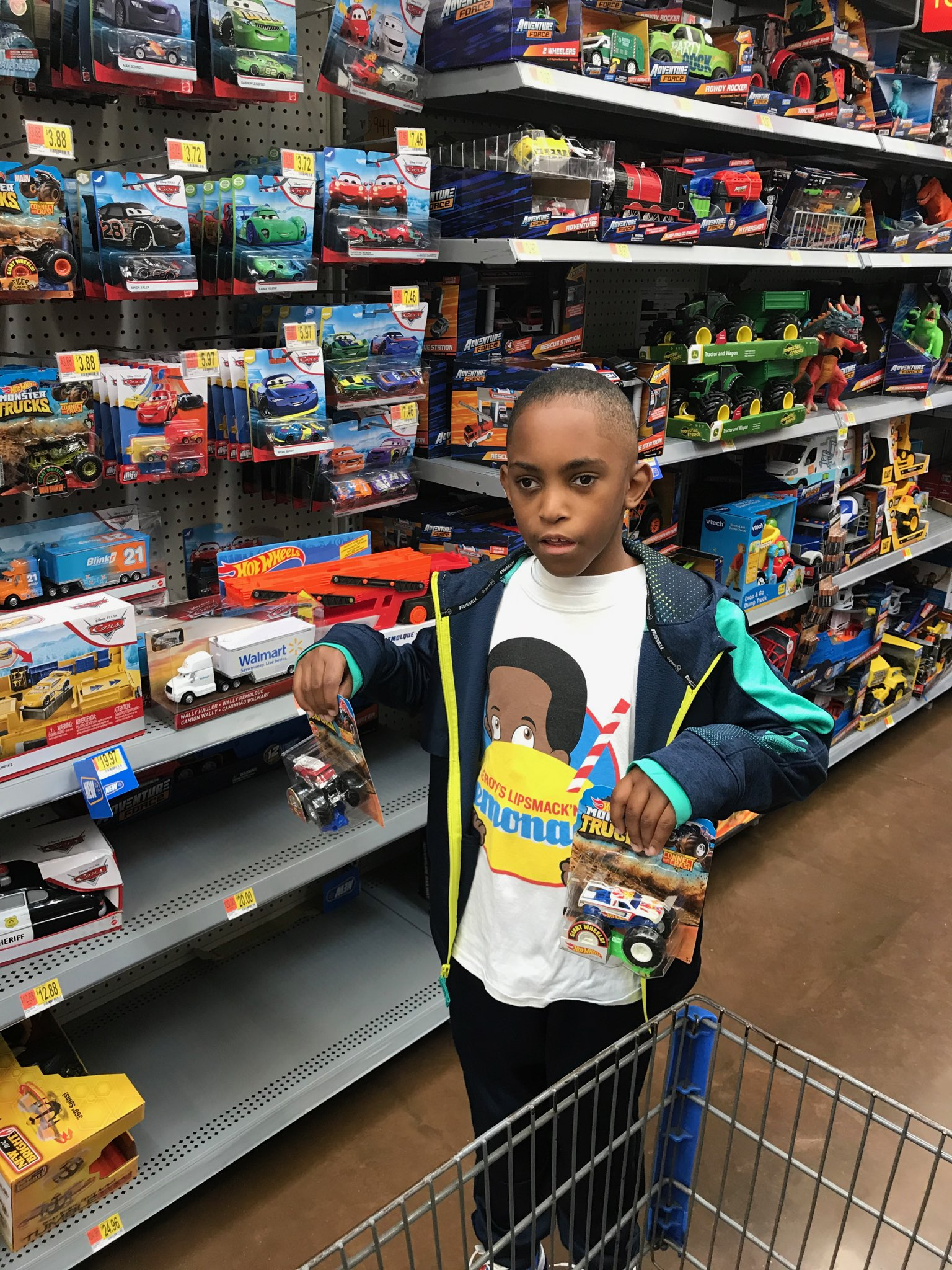 Leroy donates toys for Christmas