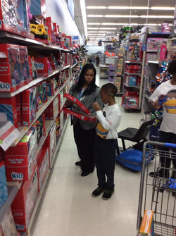 Donating to Children's Toy Drive
