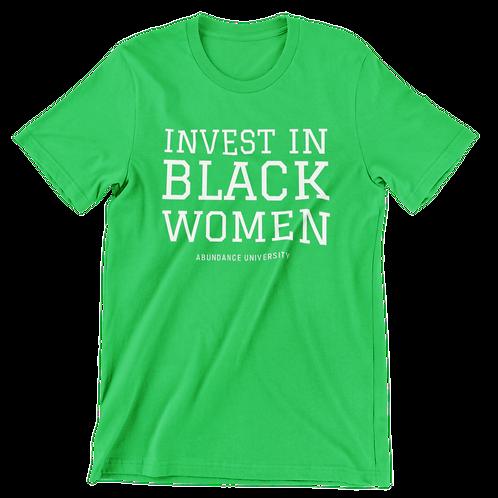Invest In Black Women Unisex Tee (Green/White)