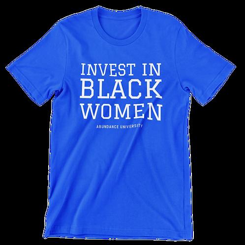 Invest In Black Women Unisex Tee (Royal/White)