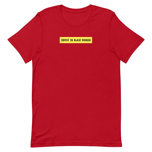 Invest In Black Women Statement Tee (Red)
