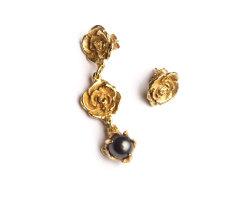 Mixed Earrings Roses & Pearl