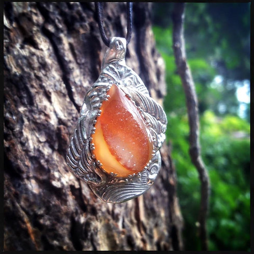 Fine Silver with Sun-kissed Agate