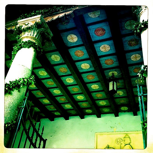 2. 38x38: Floral Mandala Ceiling: Split, C