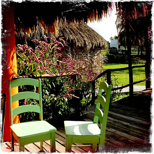 9. 12x12 Green Chairs: San Pedro, Belize