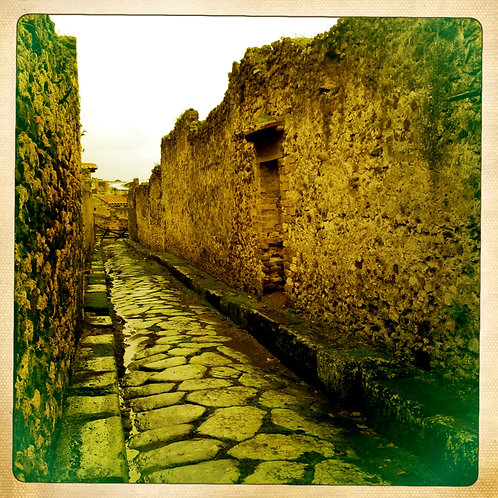 23. 38x38 Down the Cobblestone Streets: Pompei