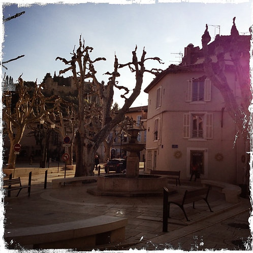 24. 20x20 Afternoon in the Square: Provence, F