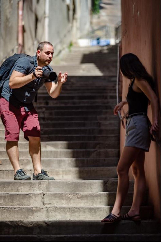 shooting photo, Vieux Lyon, modèle