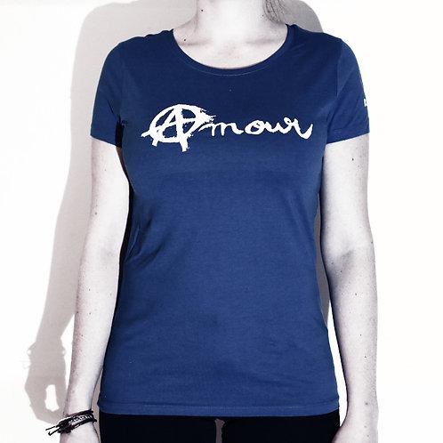 Tee shirt Amour et Anarchie - bleu