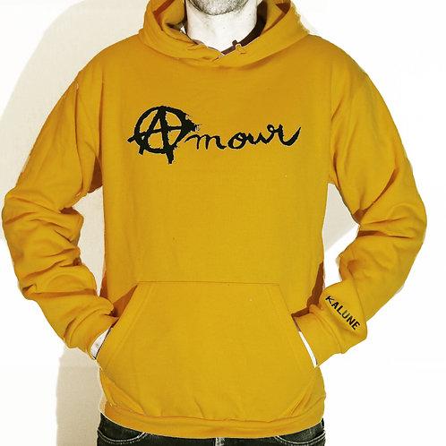 Sweat Amour et Anarchie - jaune