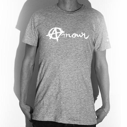 Tee shirt Amour gris (coupe mixte)