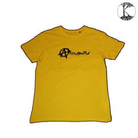 Tee shirt Amour et Anarchie - jaune