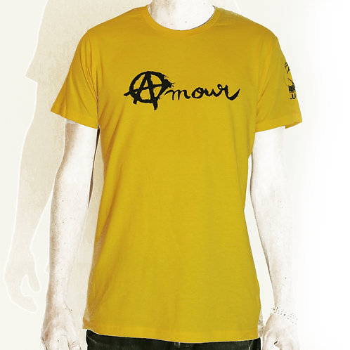 Tee shirt Amour et Anarchie - jaune