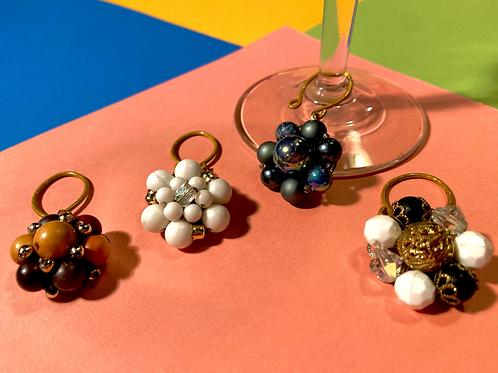Grandma's Costume Jewelry Wine Charms