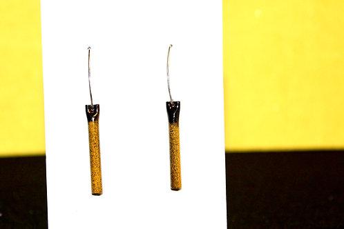Bee Happy Tube Earrings