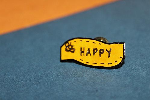 Bee Happy Pin #1