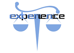 Scales of justice with the words extern and experience