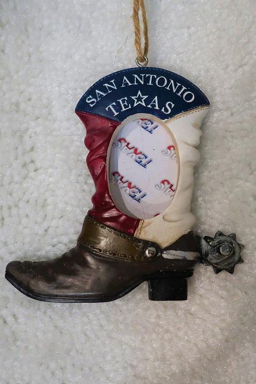 San Antonio Boot Picture Ornament