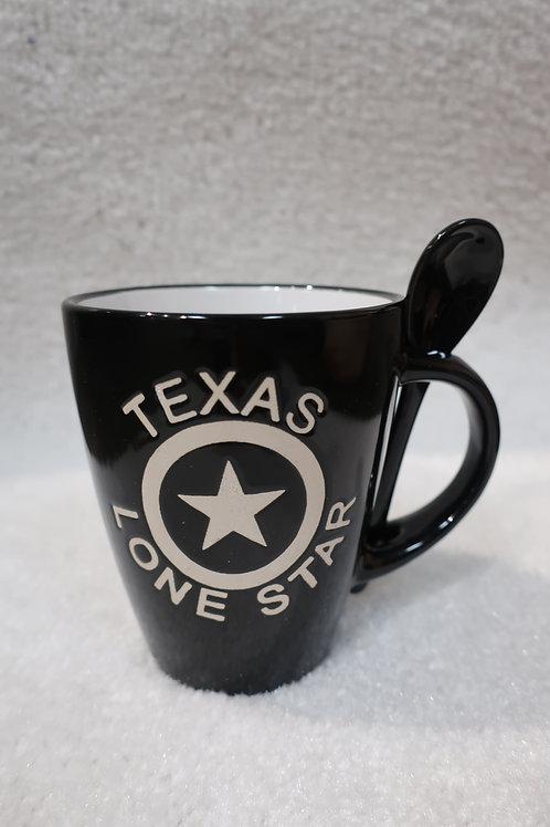 Texas Lone Star Mug with Spoon