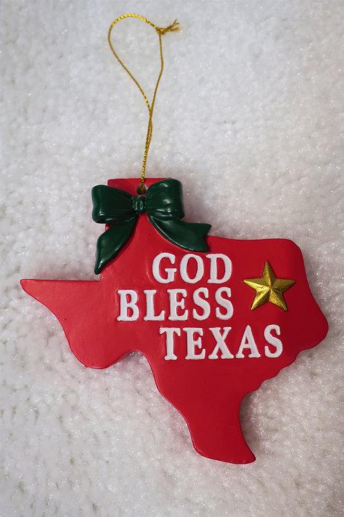 God Bless Texas Ornament