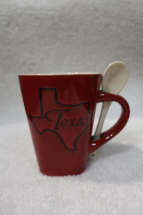 Texas Mug with spoon