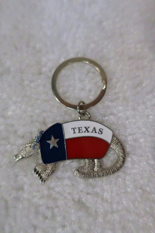 Texas Armadillo Key Chain
