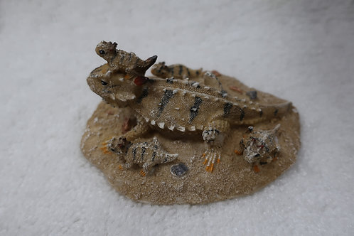 Horny Toad Family Figurine