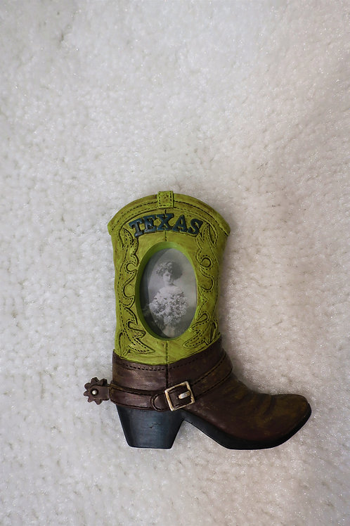 Green Boot Picture Magnet